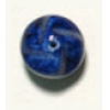 Glass Bead 12mm Nuggets Lapis Matrix Strung